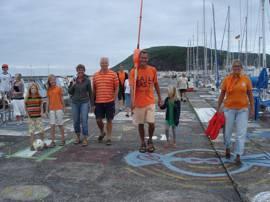 Ook in de Azoren is het oranje !!!